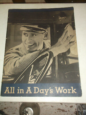 rare 1933 pure oil service gas station employee handbook all in a days work