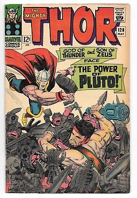 The Mighty Thor #128 VG+ Hercules App. Marvel Silver Age Comic 1966