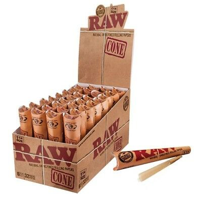 4 Packs X 6 = 24 Pcs RAW Classic Hemp 1 1/4 size Pre Rolled Cones Rolling Paper