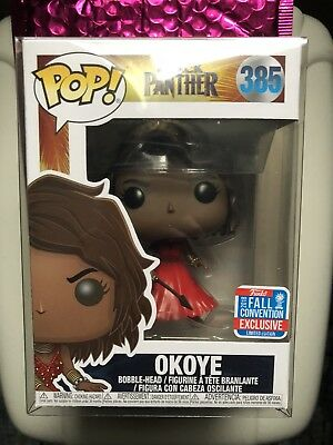 Funko Pop! Marvel Black Panther: Okoye #385 - 2018 Shared NYCC + Protector