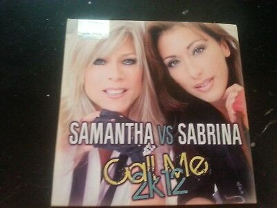 Samantha Fox Vs Sabrina Salerno Call Me 2K12 Raro Cd - Out Of Print Sealed