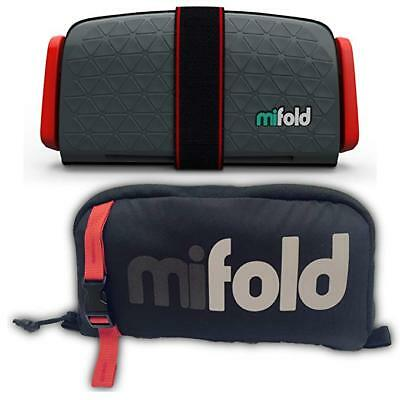 Mifold Grab And Go Car Booster Seat Slate Grey With Carrying Case