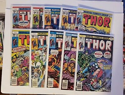 Mighty Thor high grade 19 issue run #251 thru 269!! Hela and more! No Reserve!