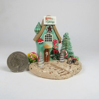 Miniature Handmade Fairy Christmas Beach House  OOAK by O'Dare