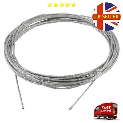 Grinding Machine Grinder 10m x 2mm Stainless Steel Wire Rope Cable Gray