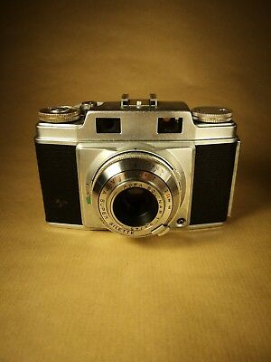 Agfa Super Silette 35mm Rangefinder Camera with case and Tully flash