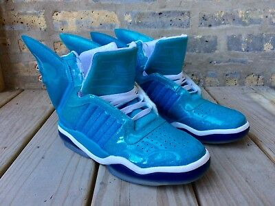 81540eb09400 Adidas Jeremy Scott Shark Fin US Size 10 Sneakers Shoes Moschino H M Brand  ...