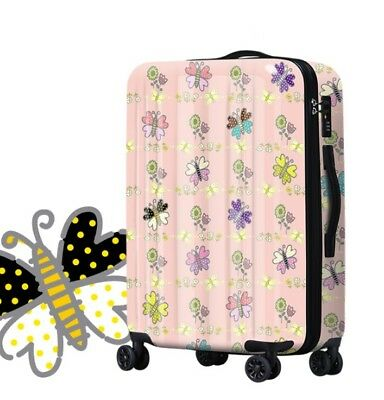 E601 Butterfly Universal Wheel ABS+PC Travel Suitcase Luggage 20 Inches W