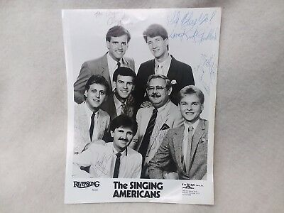 The Singing Americans 8x10 Autographed Group Photo, Black & White