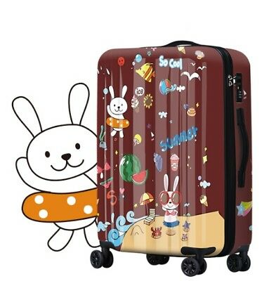 E489 Lock Universal Wheel ABS+PC Travel Suitcase Cabin Luggage 24 Inches W
