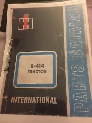 International Harvester B414 Parts Manual (Catalog)
