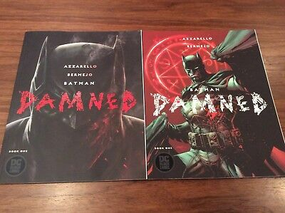 Batman Damned #1 Set Of 2- Cover A and B Uncensored DC Comics OUT OF PRINT