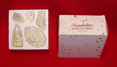 "New Dept 56 Snowbabies ""Lift Me Higher, I Can't Reach It"" Hand painted pewter"
