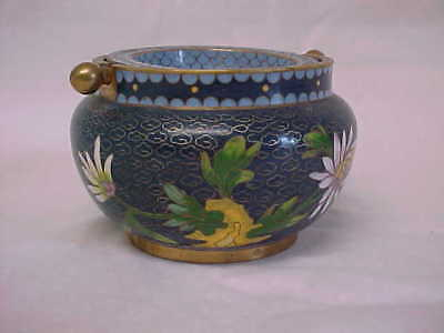 Antique/Vintage Chinese Cloisonné two piece ashtray  or Incense holder.