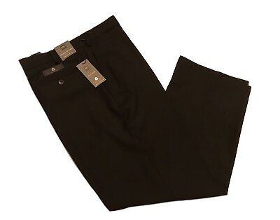 M&S Mens Active Waist Regular Fit  Black Wool Trousers 38-36-42-44-34-L-29/33/31