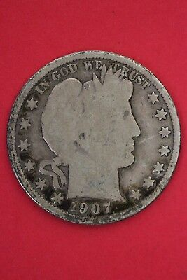 1907 D Barber Liberty Half Dollar Exact Coin Pictured Flat Rate Shipping OCE125