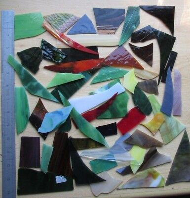 750g Stained Glass Offcuts mosaics crafts G