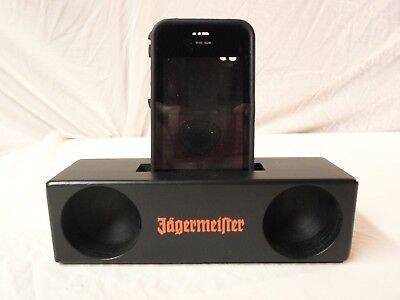 NEW Jagermeister Liquor *Passive Wood Phone Speaker iPhone x 6 6s Galaxy S9 Note