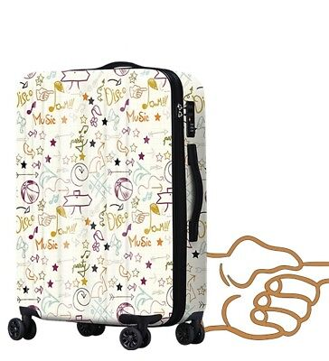 E504 Lock Universal Wheel Arrows Pattern Travel Suitcase Luggage 24 Inches W