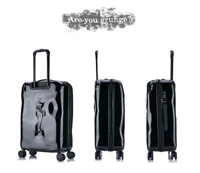 E934 Black Coded Lock Universal Wheel Travel Suitcase Luggage 20 Inches W