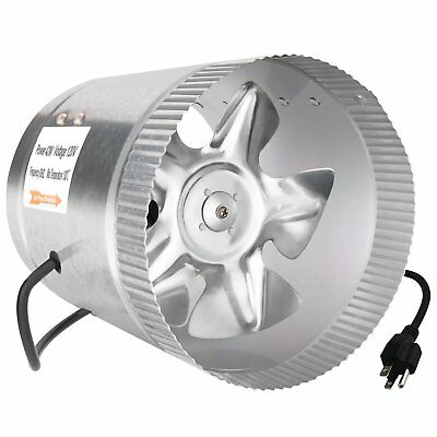 iPower 8 Inch 420 CFM Booster Fan Inline Duct Vent Blower for HVAC Exhaust and I