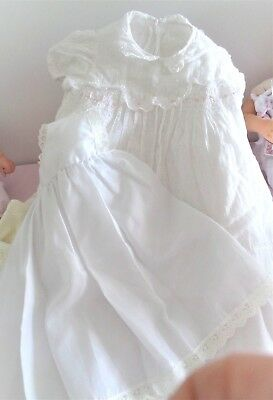 Gorgeous Vintage Baby Dress Plus Petticoat For Large Or Reborn Baby Dolls