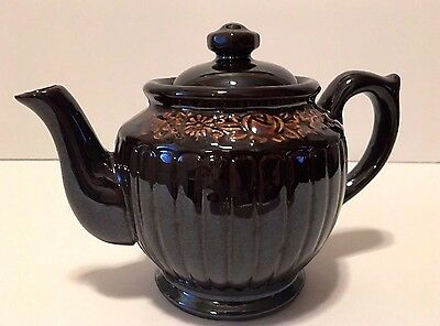 Vintage dark brown  Porcelain Teapot, made in Japan