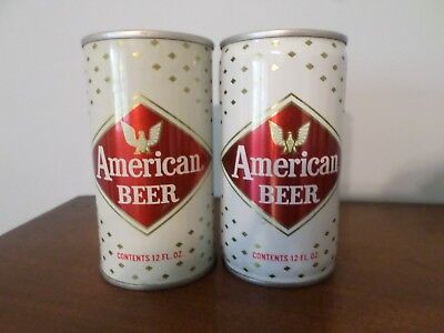 Vintage Steel Beer Can Lot of 2 Different American Pittsburgh Brewing