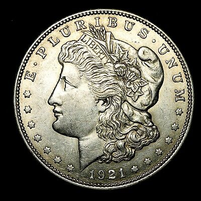 1921 D ~**ABOUT UNCIRCULATED AU**~ Silver Morgan Dollar Rare US Old Coin! #206