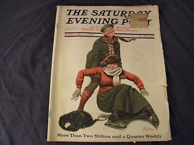Vintage February 7 1920 Saturday Evening Post Magazine Norman Rockwell Cover