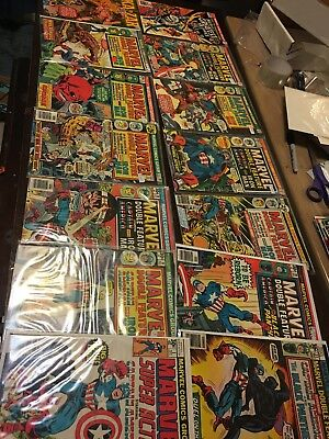 MARVEL SILVER/BRONZE COMIC LOT 14 Issues Captain America Double Feature