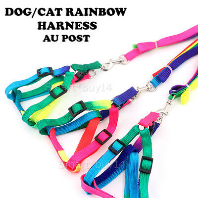 Cat Harness & Leash Adjustable Soft Nylon Lead Kitten Puppy Pet Walking Outdoors