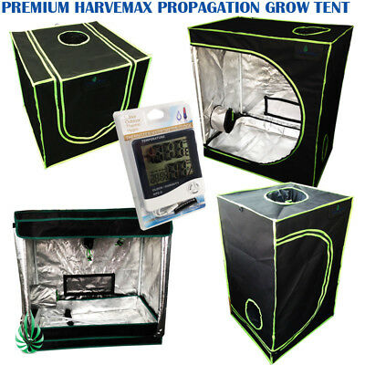 Quality Harvemax Hydroponic Mylar Seedling Cutting Propagation Grow Tent & Meter
