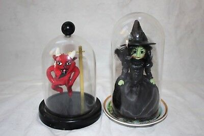 Vintage halloween decor Madame Alexander witch doll mexican folk devil