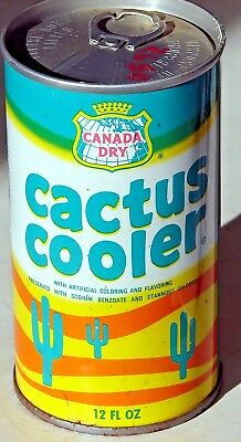 Canada Dry Cactus Cooler; Canada Dry Corp.; Maywood, IL; Steel Soda Pop Can