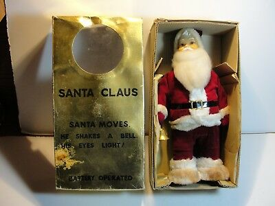 Vintage 1950's Battery Operated Santa Claus***with Original Box***works Great***