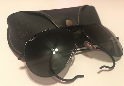 Ray Ban Bausch & Lomb Vintage Aviator Shooter Olympic 1992 Sunglasses With Case