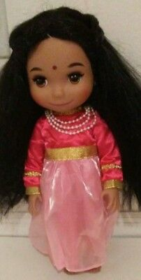 Disney It's A Small World Singing India Doll Animator's Collection As Is Read De