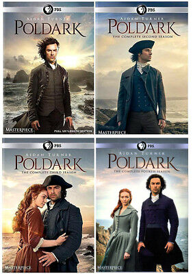 Poldark: Seasons 1-4 (DVD, 12-Discs) Region 1 for US Players, Seasons 1, 2, 3, 4