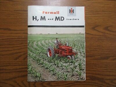 1950 Original Farmall H, M, & MD Farm Tractor Sales Brochure 32 Pages