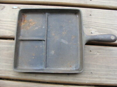 Vintage Wagner Ware Sidney -0- Cast Iron Bacon and Egg Breakfast Skillet 1101 A5