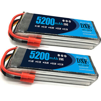 2PCS 11.1V 5200mAh DXF Lipo Battery 3S 20C for Walkera X350  Drone Helicopter