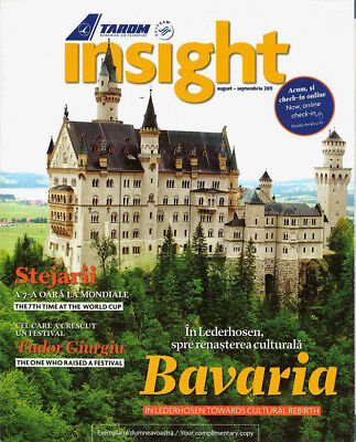 TAROM ROMANIAN AIR TRANSPORT - Inflight Magazine - Aug/Sep 2011 Insight Bavaria