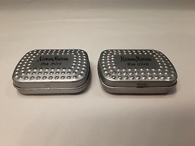 Lot of 2 Vintage NEIMAN MARCUS the mint Advertising Tin