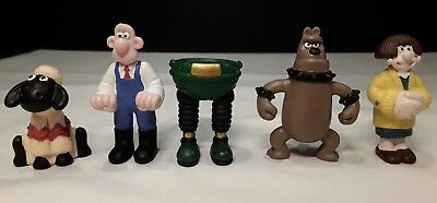 Lot of 5 Wallace and Gromit Collectible Figures 1989 from Irwin