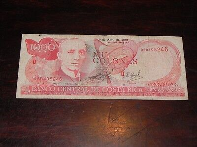 Costa Rica 1000 Colones Banknote 2003 P-264d Circulated JCcug 18710
