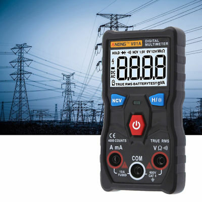 Electrical LCD Digital Clamp Voltmeter Multimeter RMS AC/DC OHM Multi Tester