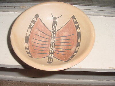 Hopi Indian Pottery Figural Butterfly Bowl By Juanita Healing