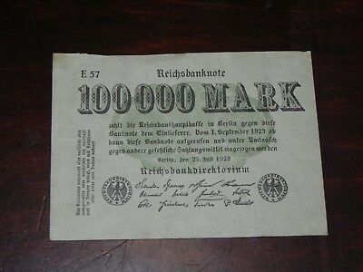 Germany 100,000 Mark Banknote 1923 P-91a Circulated JCcug 18773