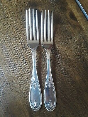 Jones Ball & Poor Coin Silver Olive Pattern Forks Qty.2